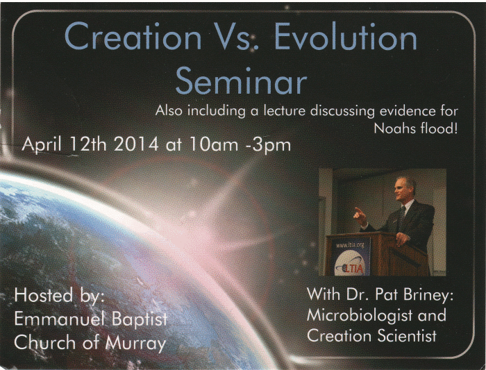 Promo card for creation seminar